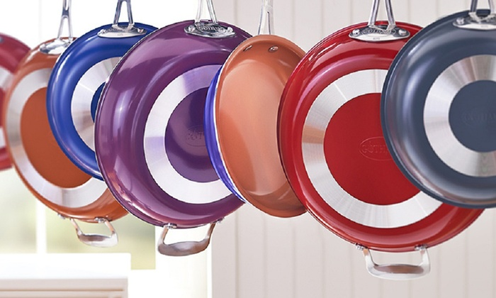 Gotham Steel non-stick colored fry pans for $16