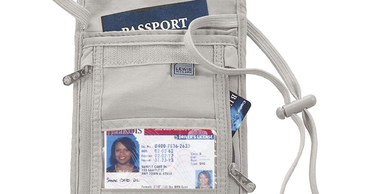 Lewis N. Clark RFID-blocking stash travel wallet under $7, free shipping