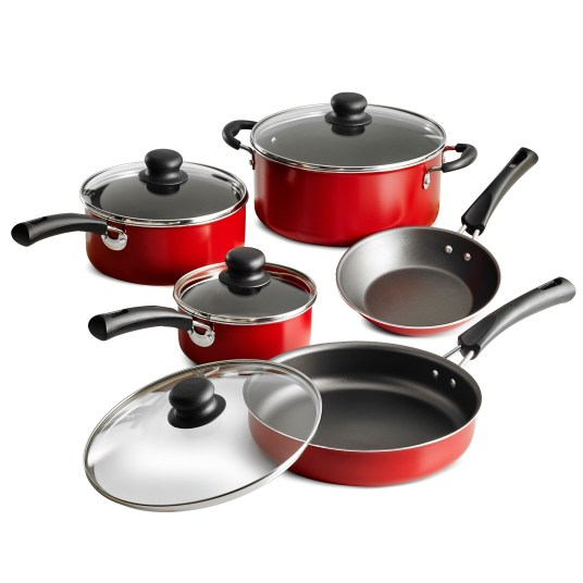 Tramontina 9-piece Simple Cooking nonstick cookware set for $20