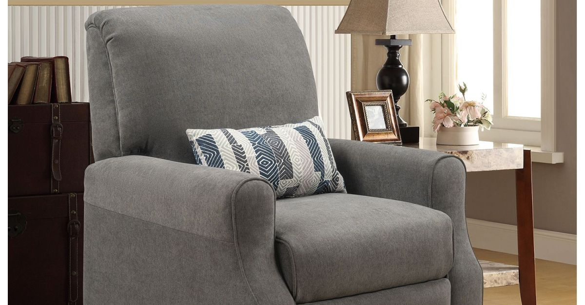 Shelby high leg recliner with accent pillow for $149, free shipping