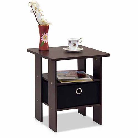 Furinno Andrey end table nightstand with bin drawer for $20