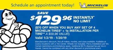 Costco tire deals: Save $130 on a set of 4 Michelin tires - Clark Deals