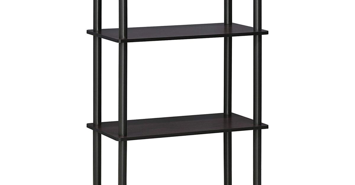 Furinno 4-tier shelf for $21
