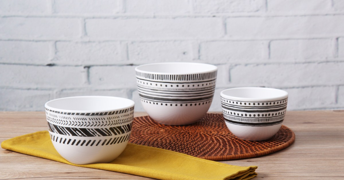 Mainstays Melamine prep bowl set for $4