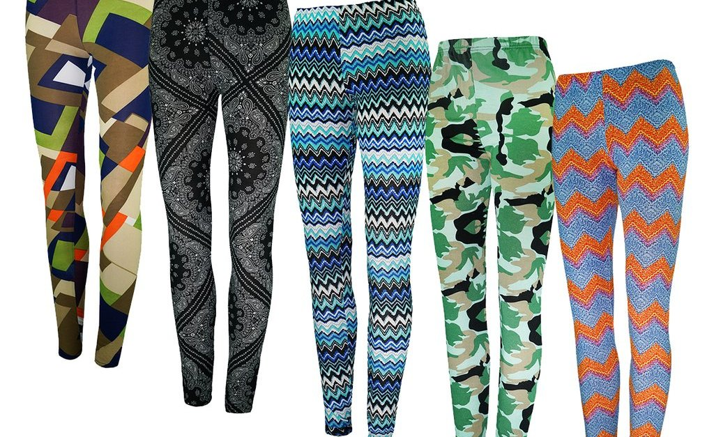 5-pack True Rock women's mystery leggings for $25, free shipping