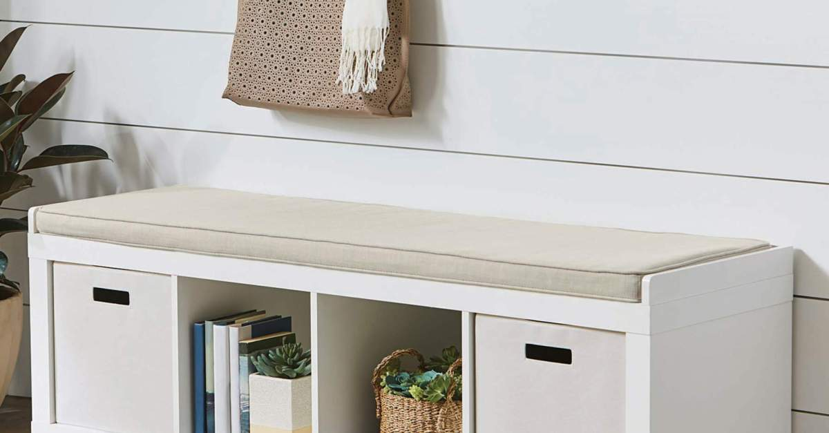 Better Homes and Gardens 3-cube organizer bench for $60
