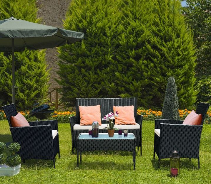 🔥 Costway 4-piece patio rattan wicker chair sofa table set for $141