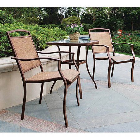 Mainstays Sand Dune 3-piece bistro set for $80