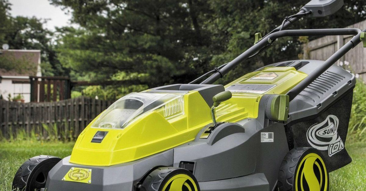 Sun Joe cordless 40V lawn mower with battery for $157