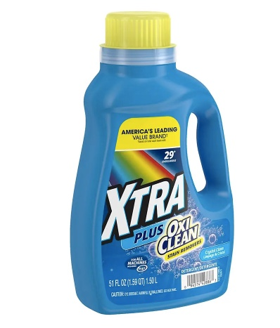In-store: Xtra Plus OxiClean 51-oz laundry detergent for $1