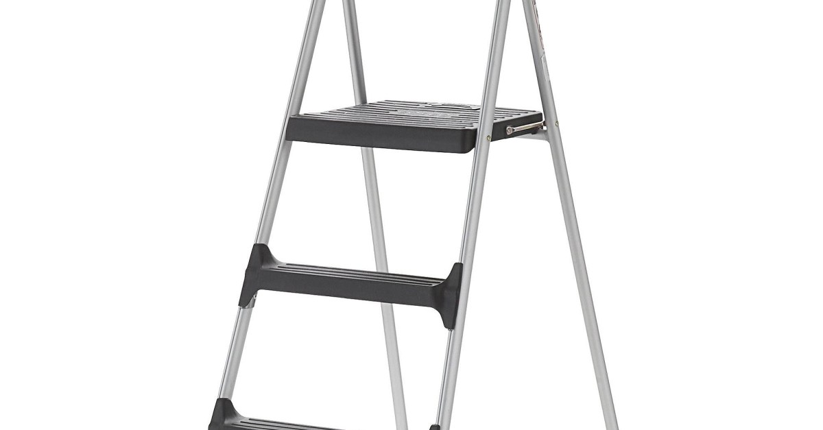 Cosco Signature 3-step aluminum step stool for $36