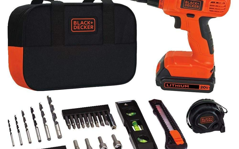 Today only: Black & Decker 20V Max drill & home tool kit for $52