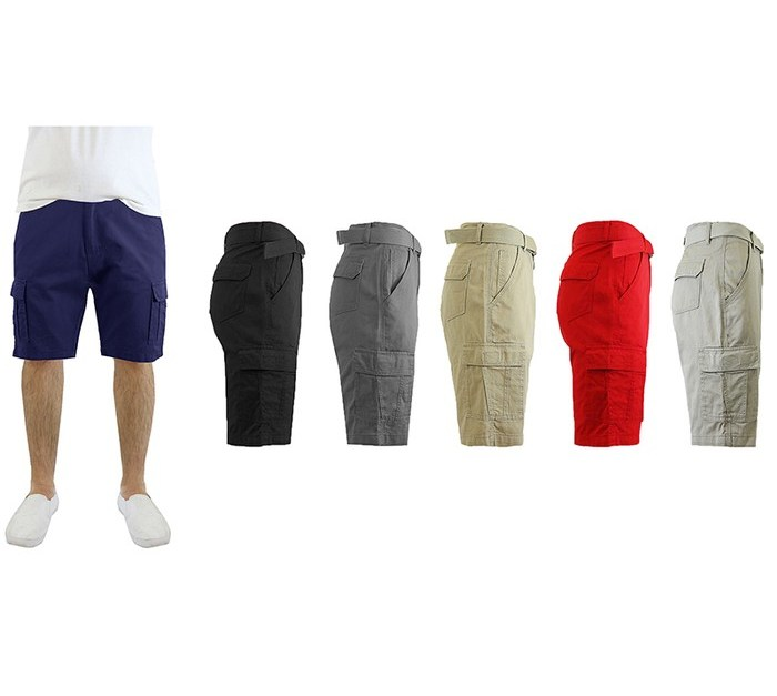 Men's cotton cargo shorts for $12, free shipping