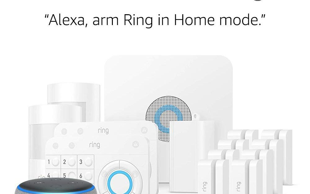 14-piece Ring alarm home security kit + Echo Dot for $279