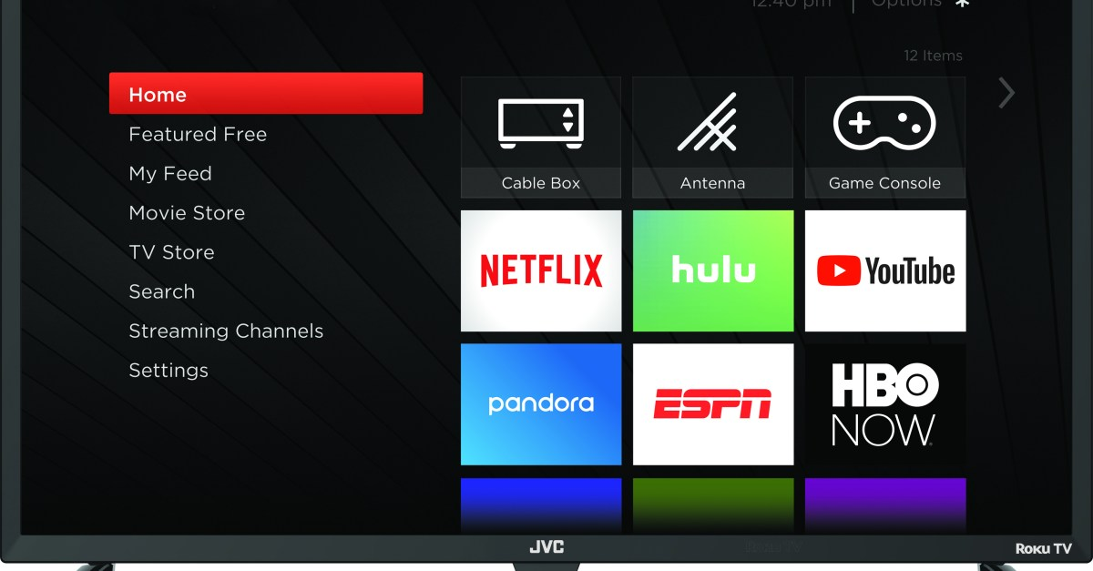 JVC 32″ HD Roku smart LED TV for $120