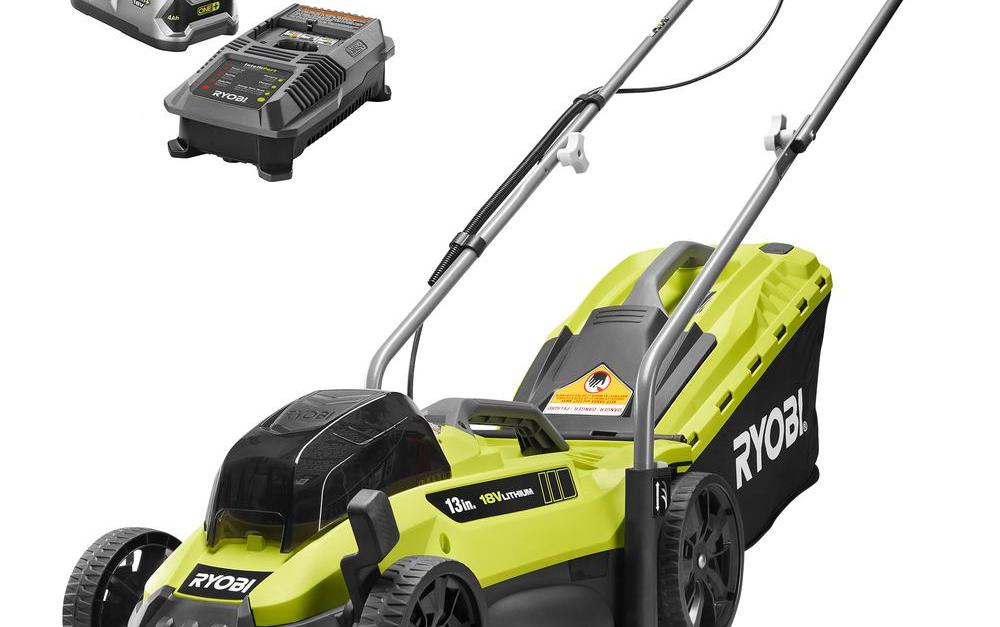 Ryobi 13-inch One+ lithium-ion cordless push mower for $149