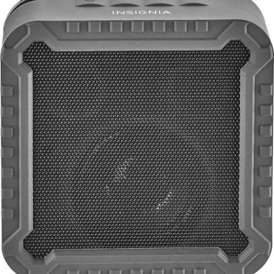 Insignia rugged portable Bluetooth speaker for $10