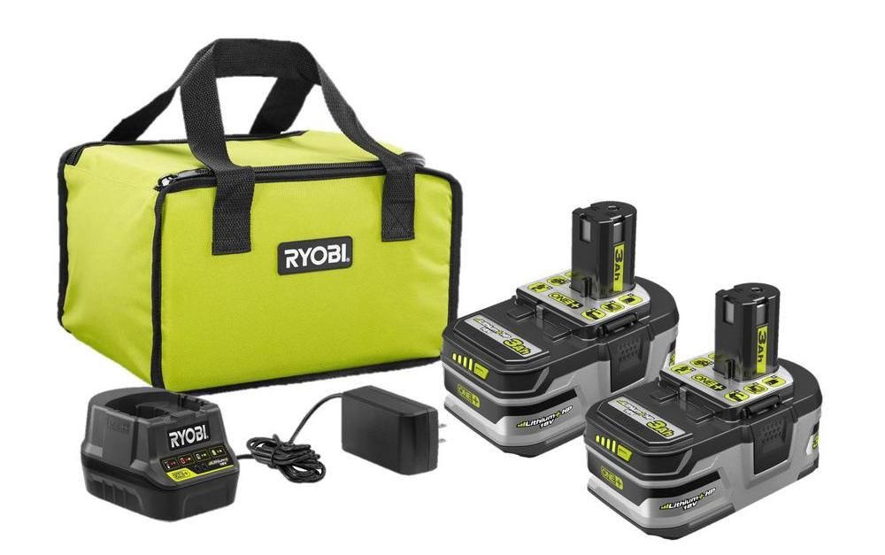 Get a FREE Ryobi power tool with Ryobi 18V ONE+ lithium ion 2-battery starter kit for $99