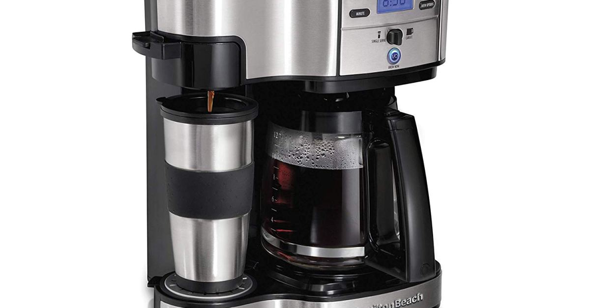 Today only: Hamilton Beach 2-way brewer coffee maker for $37