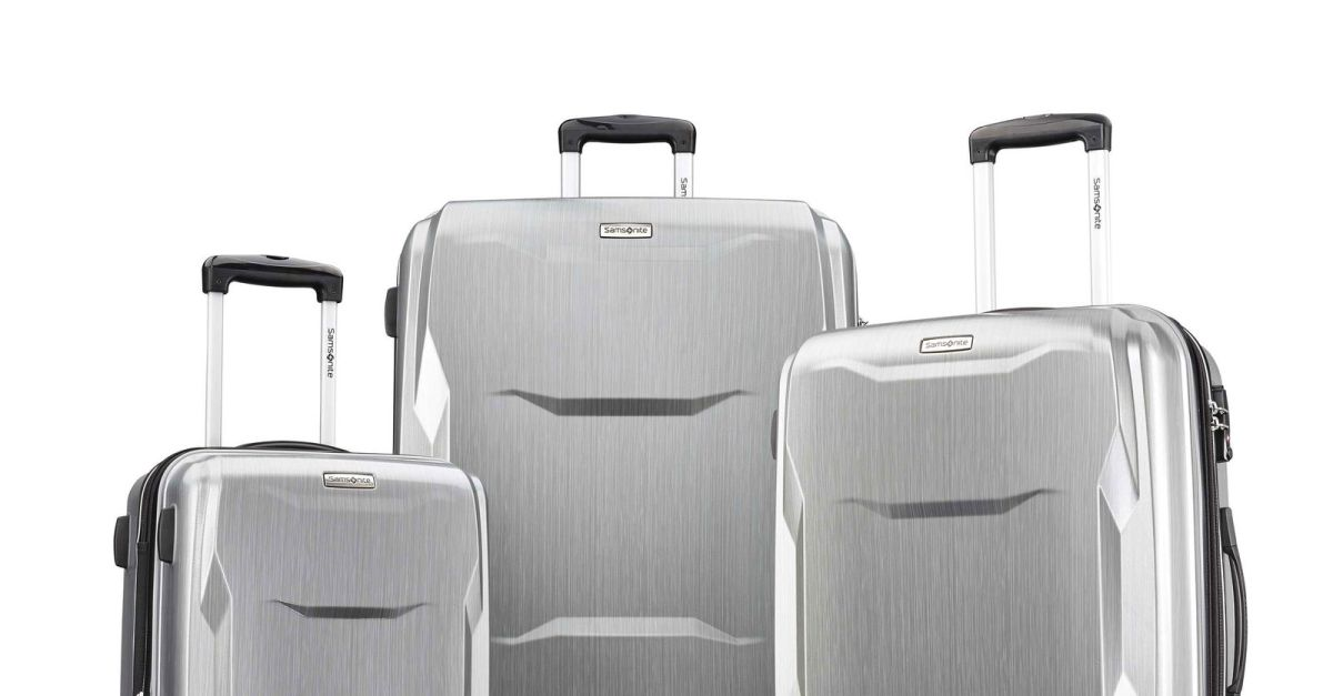 3-piece hardside luggage sets from $112