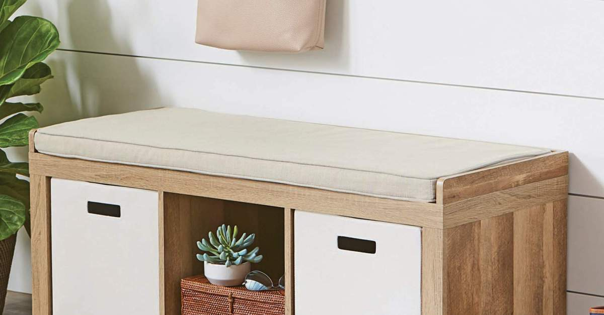 Price drop! Better Homes and Gardens 3-cube organizer storage bench for $50