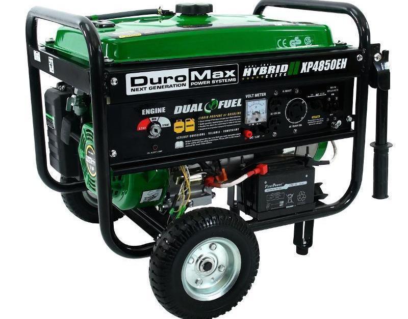 DuroMax hybrid portable propane/gas generator for $300