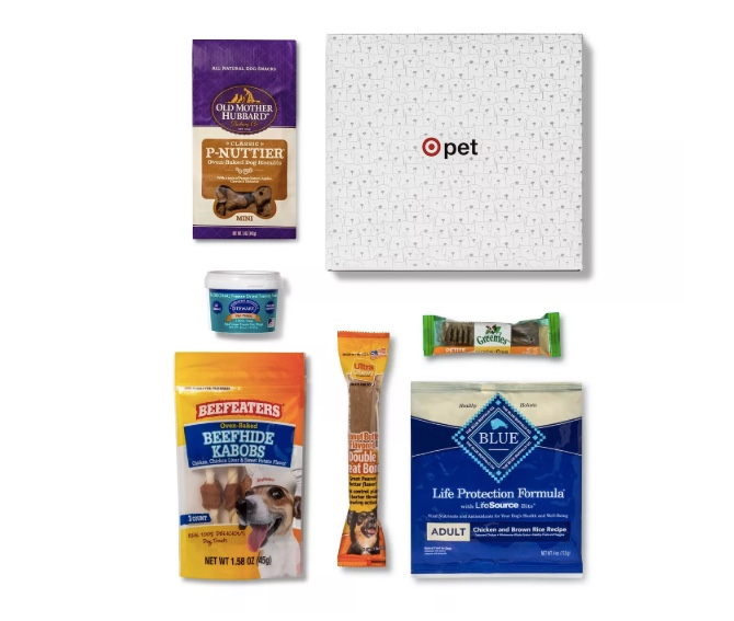 Target pet box with 6 items for $10