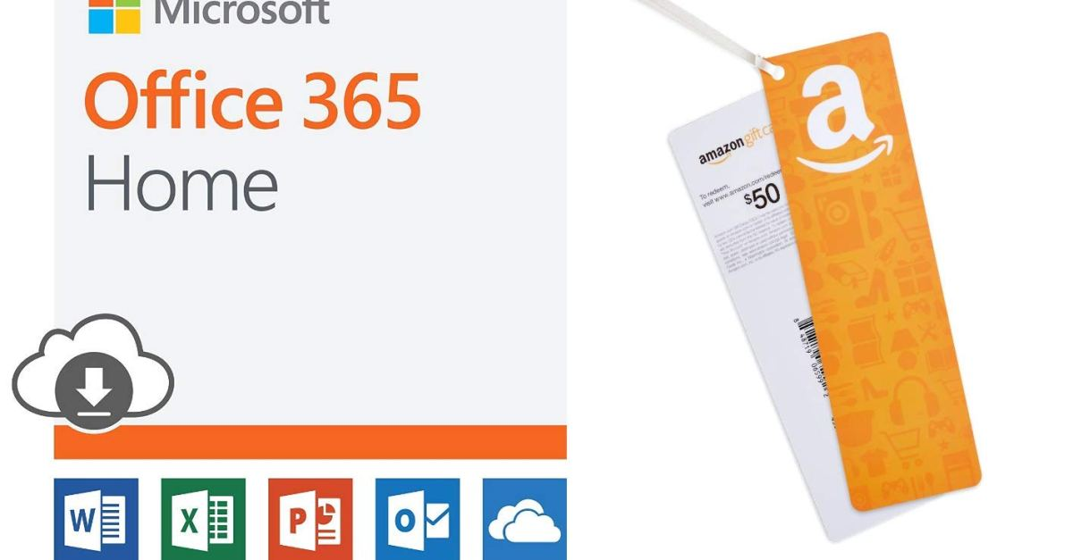 Prime members: Microsoft Office 365 Home with FREE $50 Amazon gift card for $100