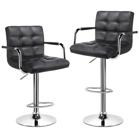 Set of 2 adjustable bar stools with swivel seat for $72