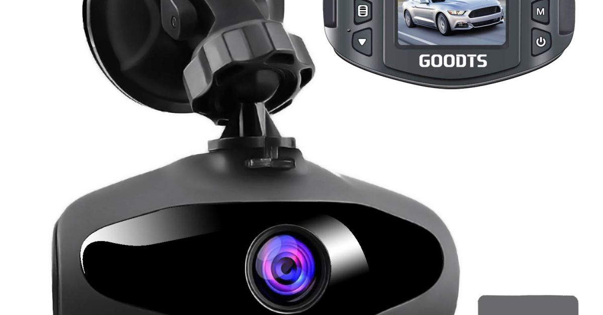Goodts dash cam with 16GB memory card for $21