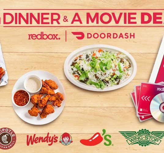 New customers: Get up to 3 FREE Redbox rentals with your DoorDash order