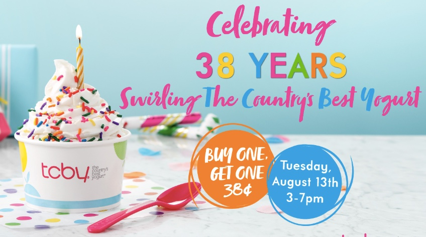 TCBY: Buy one, get one for 38 cents today!