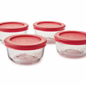 Anchor Hocking 1-cup glass storage set with lids for $6