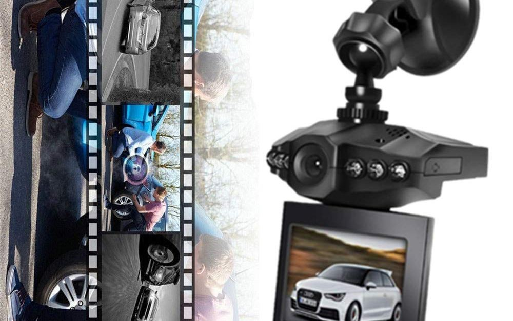 eBoTrade 2.5″ wide angle 6 LED night mode dash cam with loop recording for $20