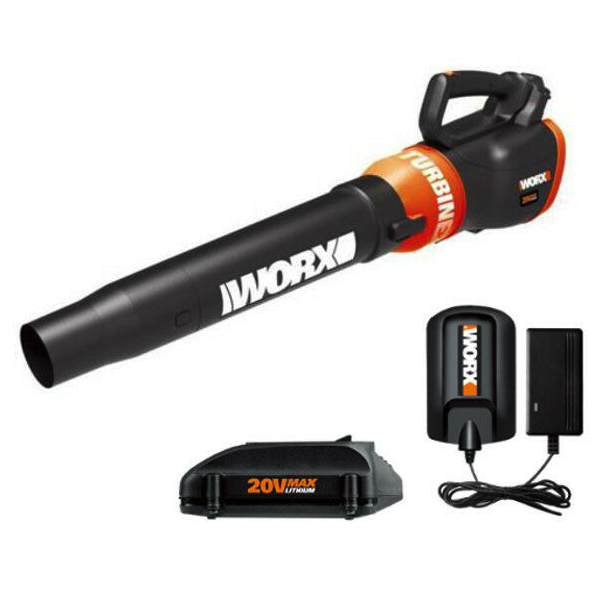 Worx 20V PowerShare 2-speed cordless battery-powered leaf blower for $40