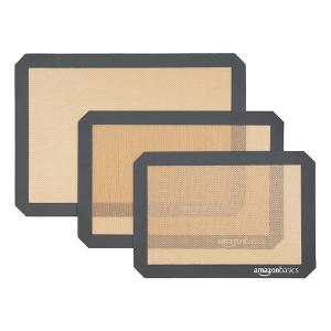 3-pack AmazonBasics silicone baking mats for $9