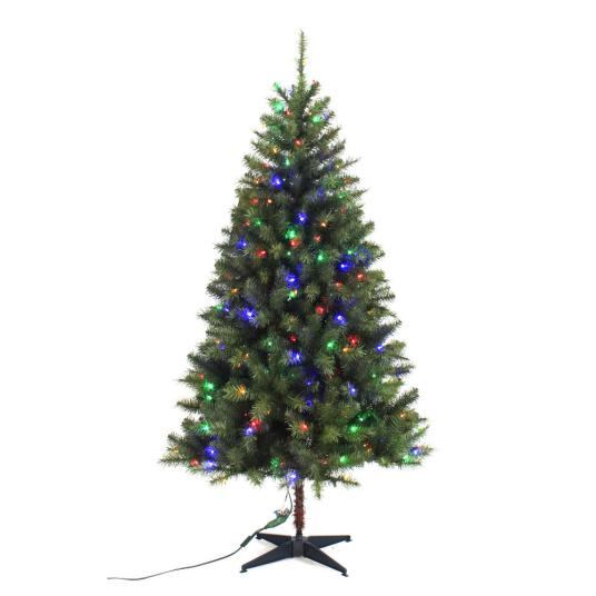 Home Accents 6.5 ft. pre-lit LED artificial Christmas tree for $40