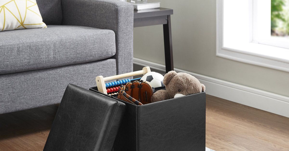 Mainstays ultra collapsible storage ottoman for $11