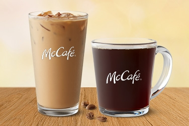 McCafé hot or iced coffee for 99 cents at McDonald's