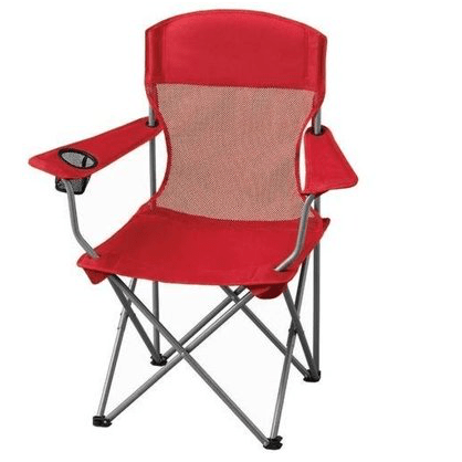 Ozark Trail basic mesh folding chair with cup holder for $10