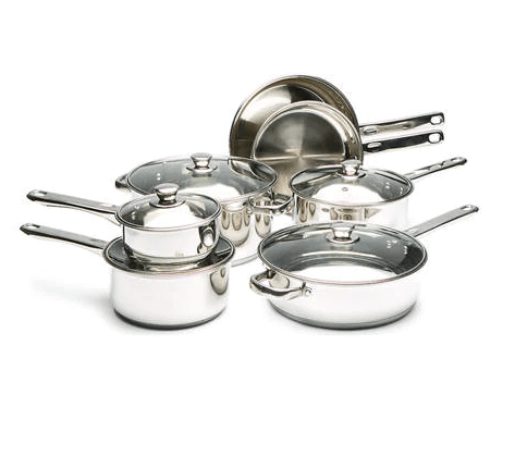 Today only: Cooks Tools stainless steel or nonstick cookware sets for $27