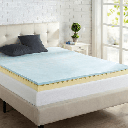 Today only: Zinus 4″ gel memory foam mattress topper from $53 for Sam's Club members