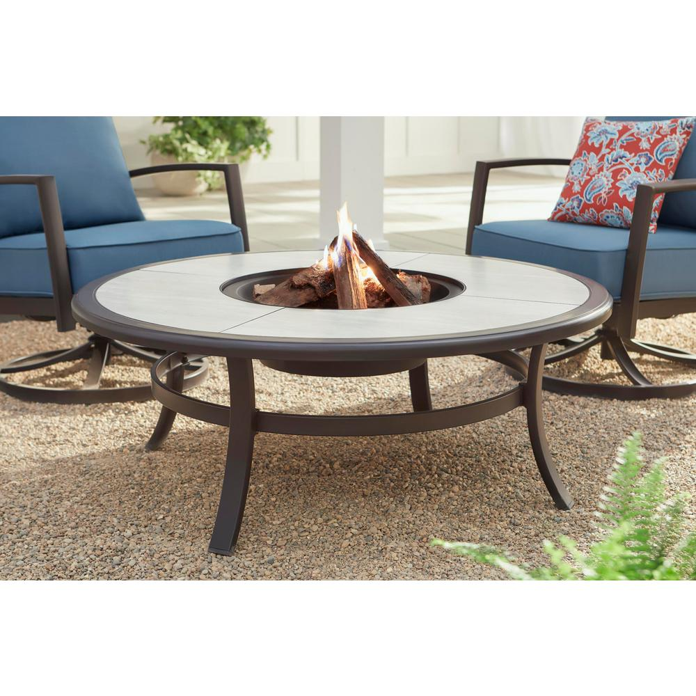 Hampton Bay Whitfield 48-inch fire pit table for $151 ...
