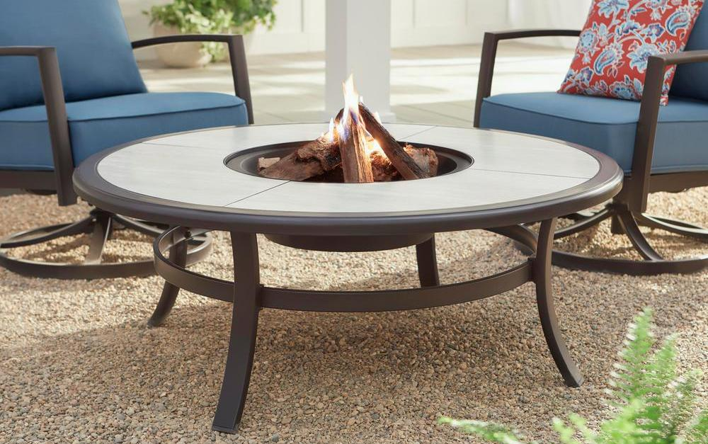 Hampton Bay Whitfield 48-inch fire pit table for $151