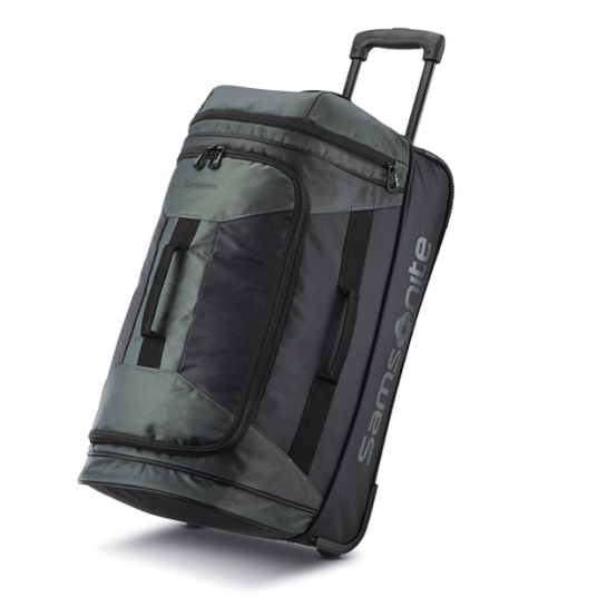 Samsonite Andante 2 drop bottom wheeled rolling duffel bag for $30