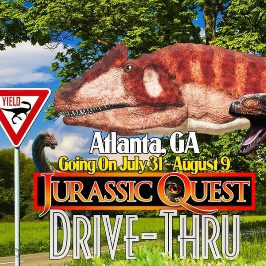 Jurassic Quest: Drive-through safari adventure comes to Atlanta
