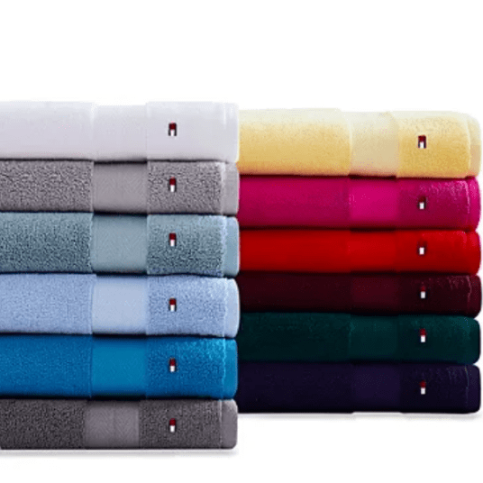 Tommy Hilfiger Modern American cotton bath towels for $5