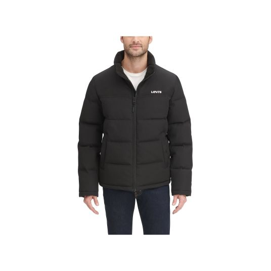 Men's Levi's Arctic Cloth stand collar logo puffer jacket for $32