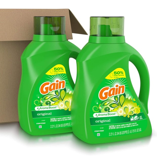 2-count Gain 75-oz. laundry detergent for $6 each