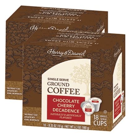 108-count Harry & David single-serve K-Cup coffee for $37 shipped